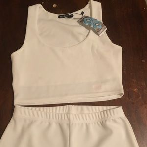 2 Piece Crop Top and Biker Shorts